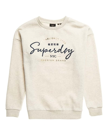 Superdry Established Crew Sweatshirt Lysgrå