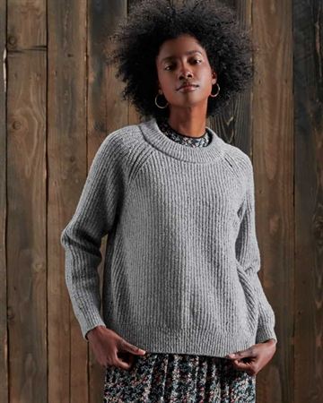 Superdry Freya Tweed Crew Grey