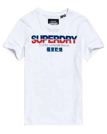 Superdry City Nights T-Shirts Hvid