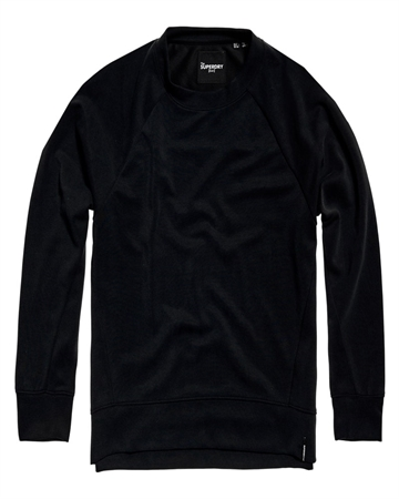 Superdry Edit Raglan Sweatshirt Sort