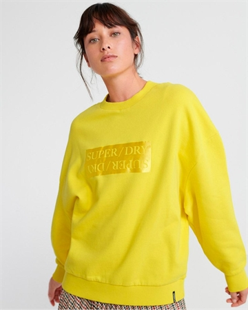 Superdry Edit Slouchy Crew Sweatshirt Gul