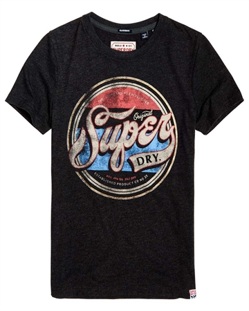 Superdry Soda Entry T-shirt Charcoal Marl