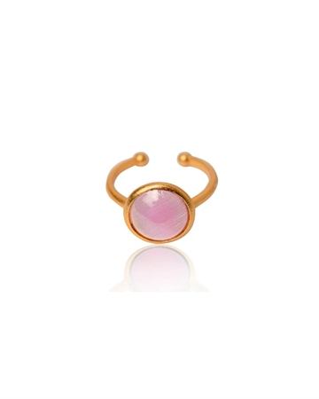 Zefina Cat Eye Ring Guld/Rosa